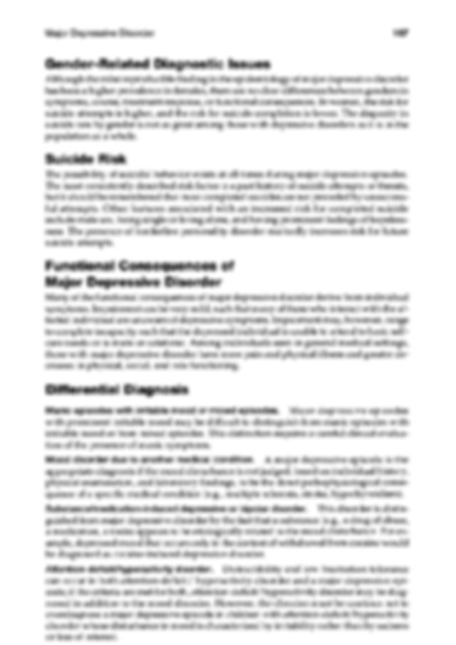 DSM5.Print Major Depressive.pdf - Specify the following ...