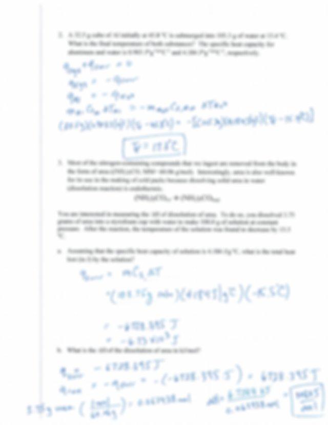 6 Thermochemistry Worksheet key.pdf - mistry 1A 6 ...
