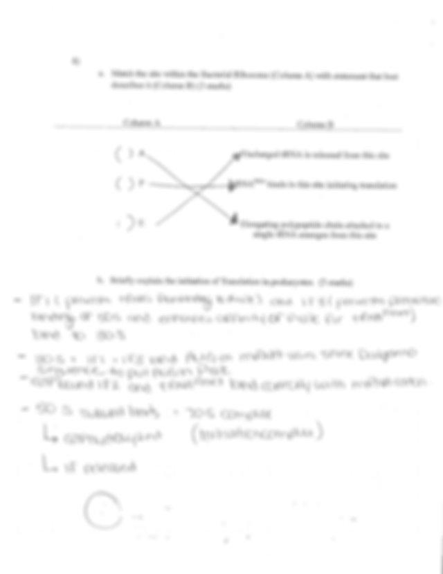 Test 1 answers - Biology 2080 Term Test 1 \u2014 Tuesday ...