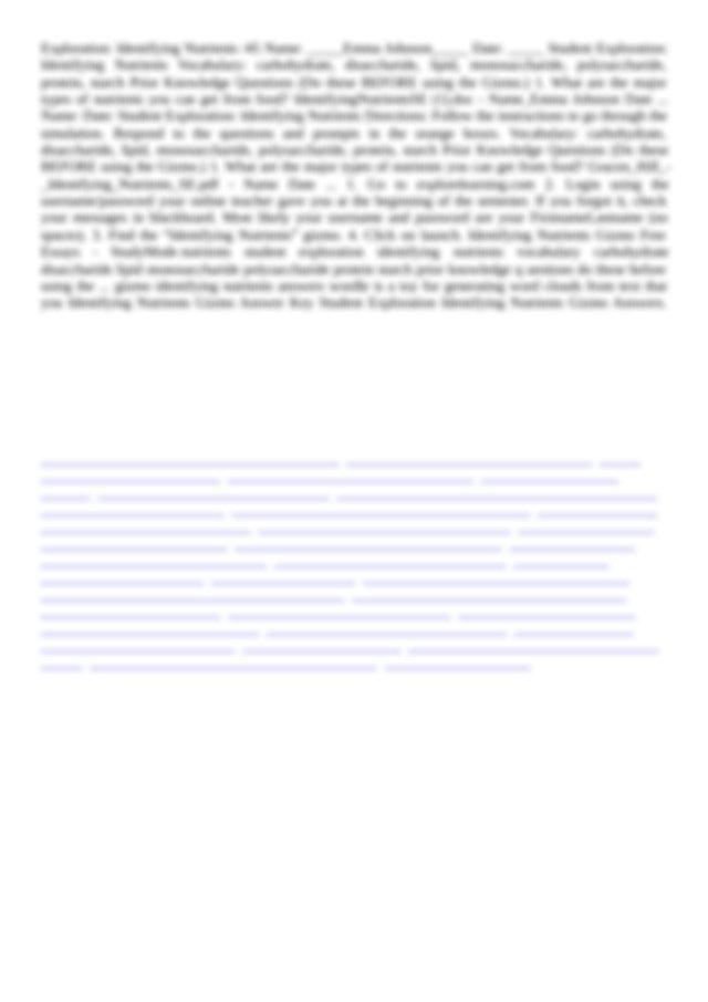 Identifying Nutrients Gizmo Answer Key 22 PDF Drive Search ...