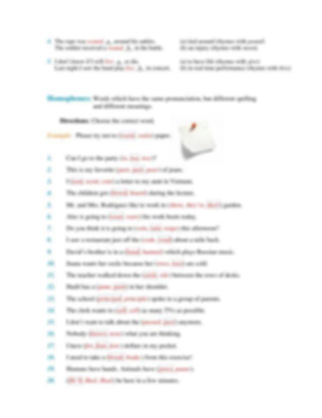 Homonyms, Homographs, Homophones - answers.pdf ...