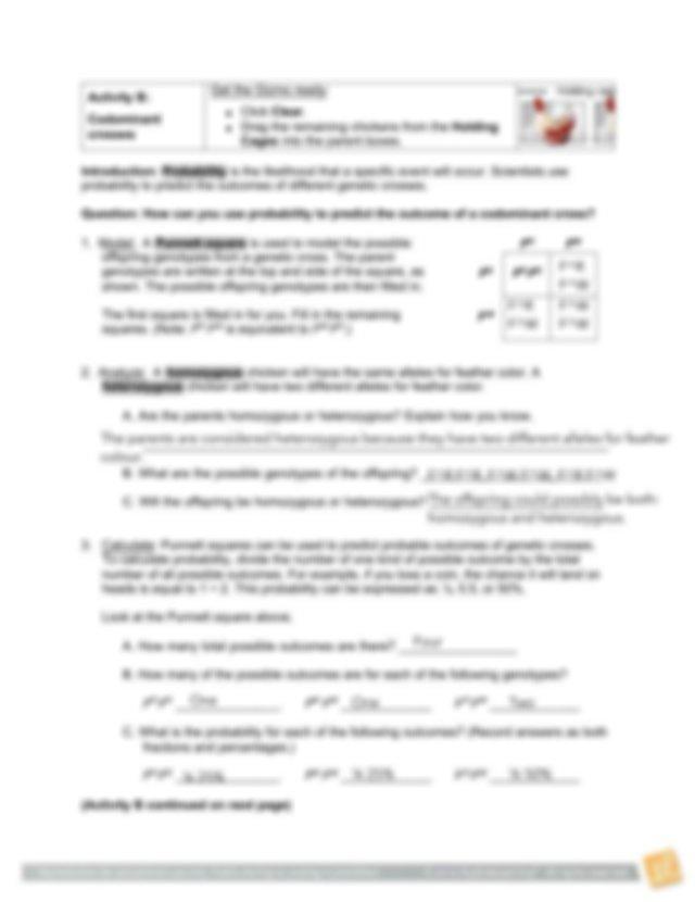 Genetics 24E Chicken Genetics Gizmo Worksheet (1).pdf ...