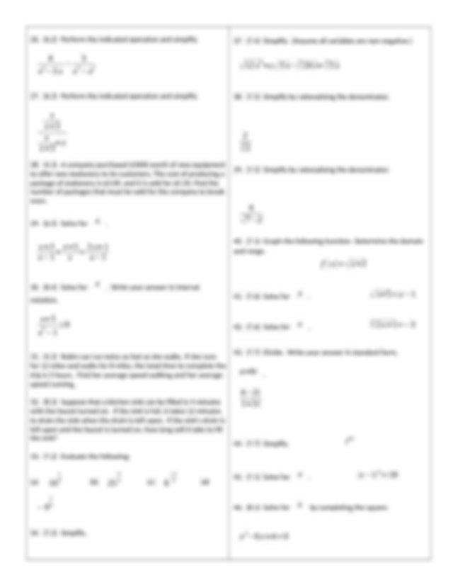 Math 1010 Final Review and Answer Key - MAT 1010 FINAL ...