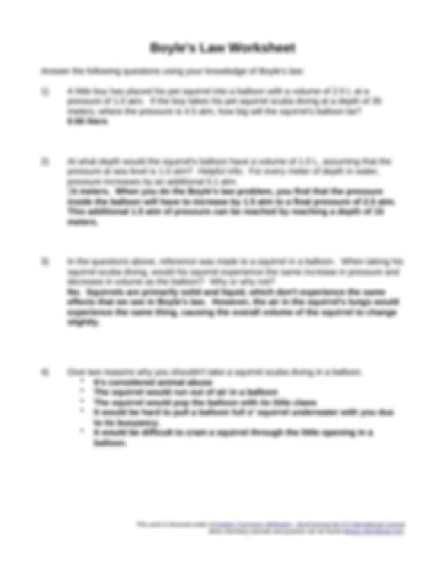 boyles-law-worksheet.odt - Boyle's Law Worksheet Answer ...