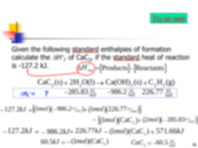 Calculate H for the incomplete combustion of propanol ...