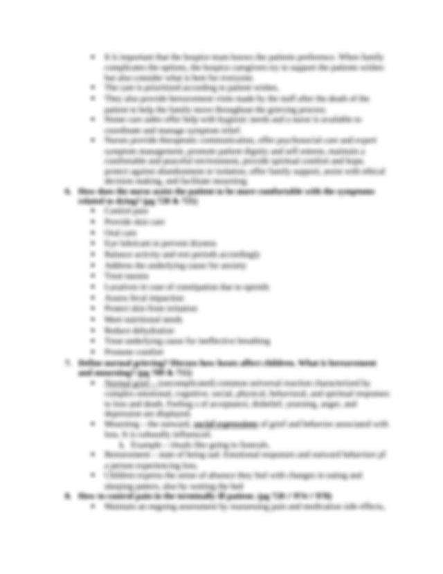 Fundamentals Final Exam.docx - Final Exam 1 Death and ...