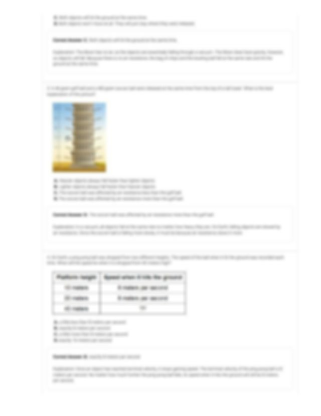 Free Fall Tower Gizmo - ExploreLearning.pdf - ASSESSMENT ...
