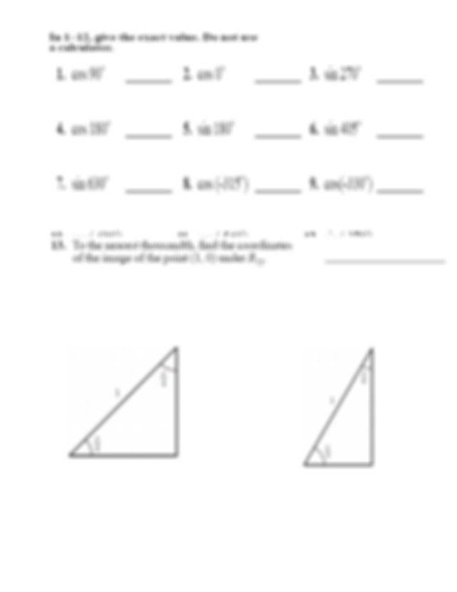Geometry Notes Trig Worksheet Homework - Lesson58: Picture ...