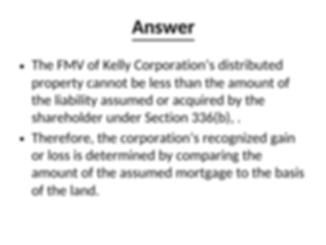 15 General Liquidation Rules a Taxable Liquidation Section ...