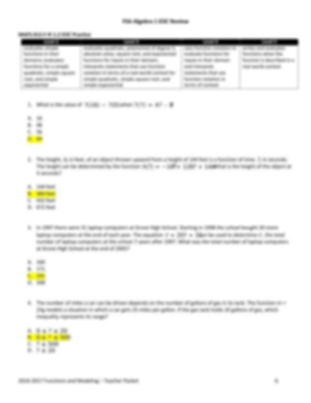 2017-MAFS-A1-EOC-Review-Functions-and-Modeling-Answer-Key ...
