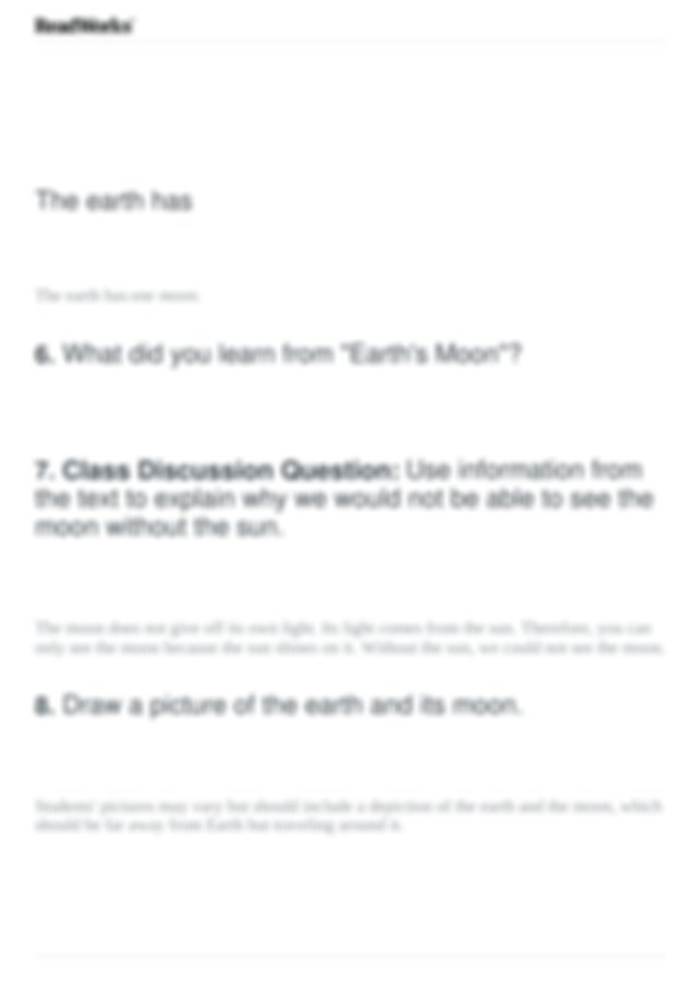 Earth's Moon.pdf - Earth's Moon Comprehension Questions ...