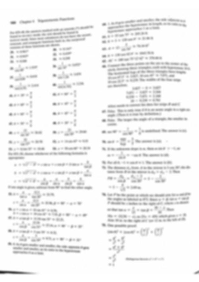 Unit 7 HW 1 Answer Key - 160 Chapter 4 Trigonometric ...