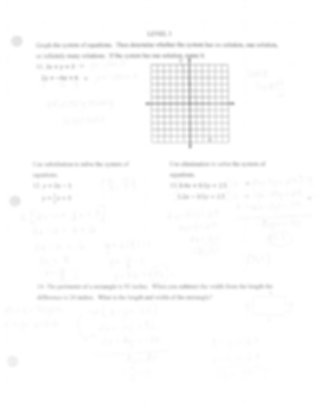 Chapter 9 test review answer key - LEVEL 3 Graph the ...