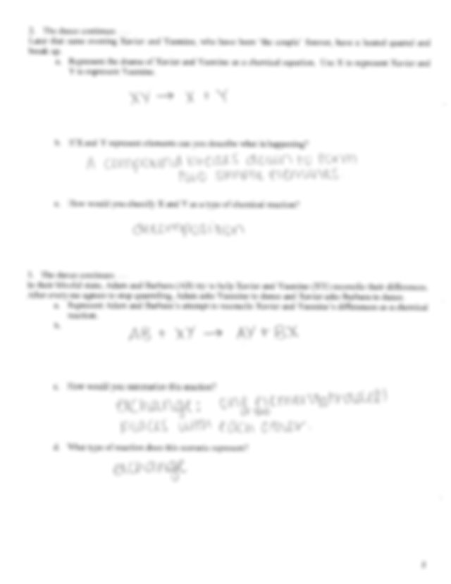 Classifying Types Of Chemical Reactions Pogil + My PDF ...