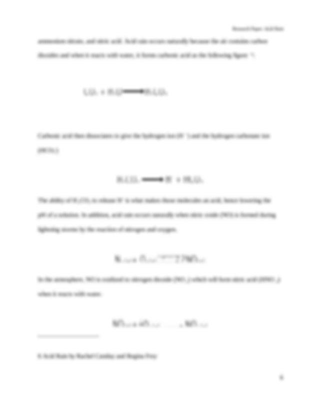 Acid rain research paper