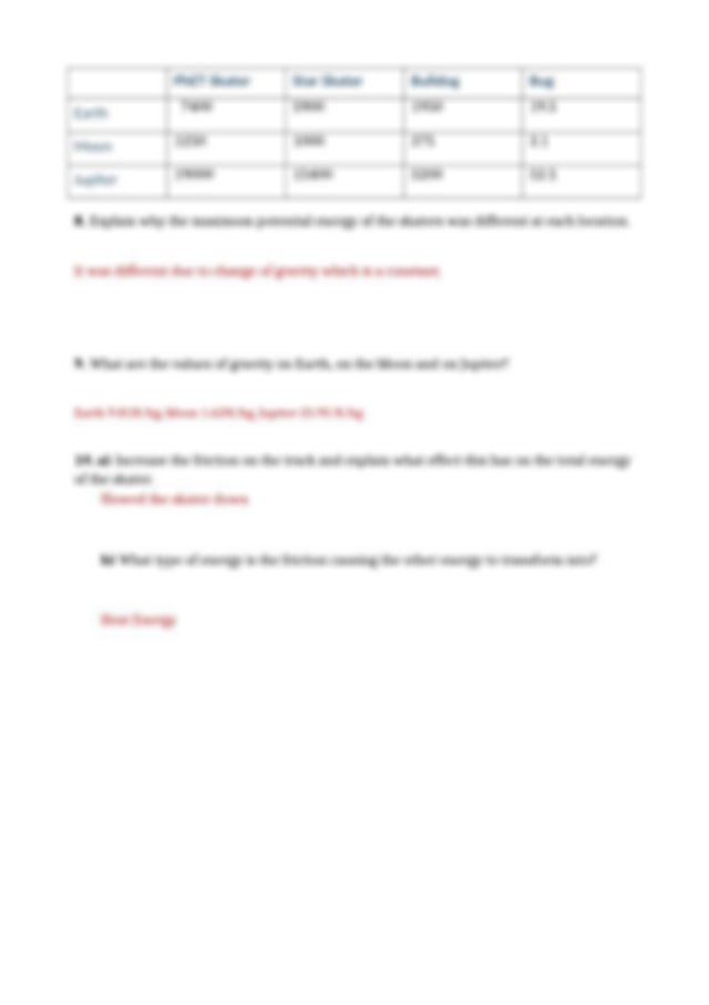 Phet lab answers Conservation of Energy.docx - Energy ...