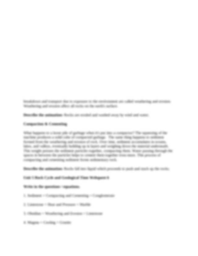 Unit 5 Rock Cycle and Geological Time Webquest 4 Melting ...