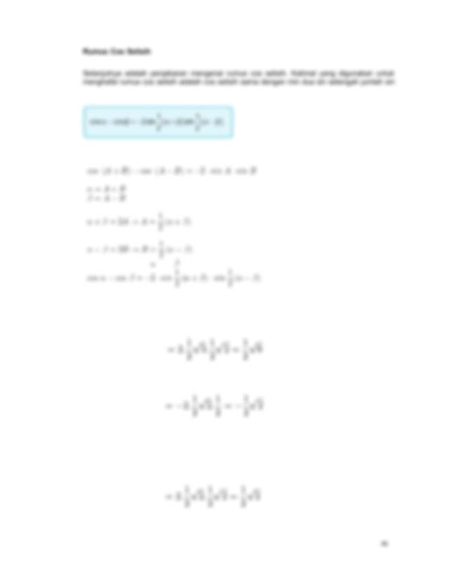 Bentuk rumus cos selisih dapat dilihat pada gambar di ...
