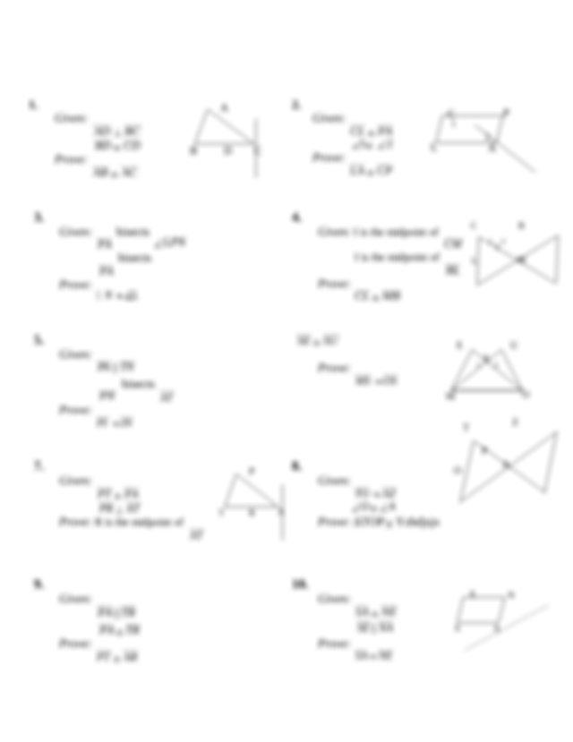 trianglesx copydocx  proving triangles are congruent for