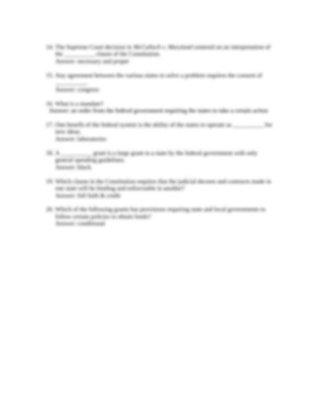 Chapter 3 Quiz - Chapter 3 Quiz 1 Which of the following ...