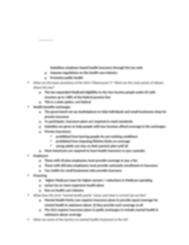 Social Policy Study Guide Exam 2  Docx