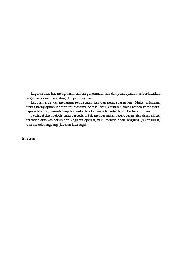 Penutup Docx Bab Iii Penutup A Kesimpulan Laporan Arus Kas Cash Flow Statement Adalah Bagian Dari Laporan Keuangan Suatu Perusahaan Yang Dihasilkan Course Hero