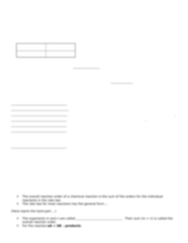 Unit 10 Packet - Honors Chemistry with Ms O'Neill Unit 10 ...