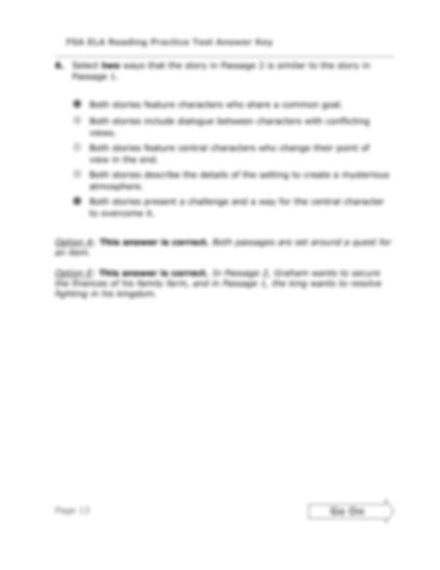 15058 Page 14 FSA ELA Reading Practice Test Answer Key Go ...