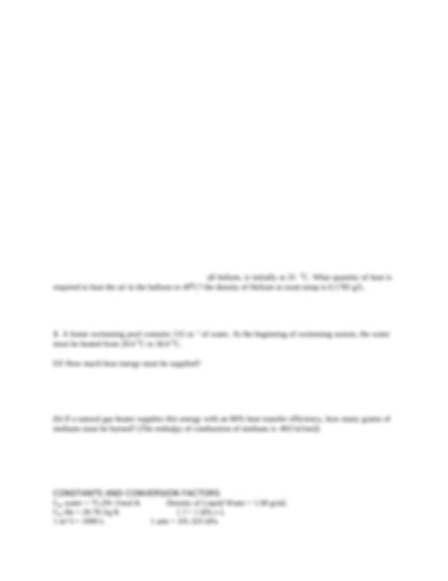 Thermochem Worksheet #2 - Thermochemistry Worksheet#2 1 A ...