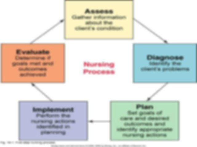 Nursing Process ppt fall 2014 - Nursing Process NURS 3200 ...