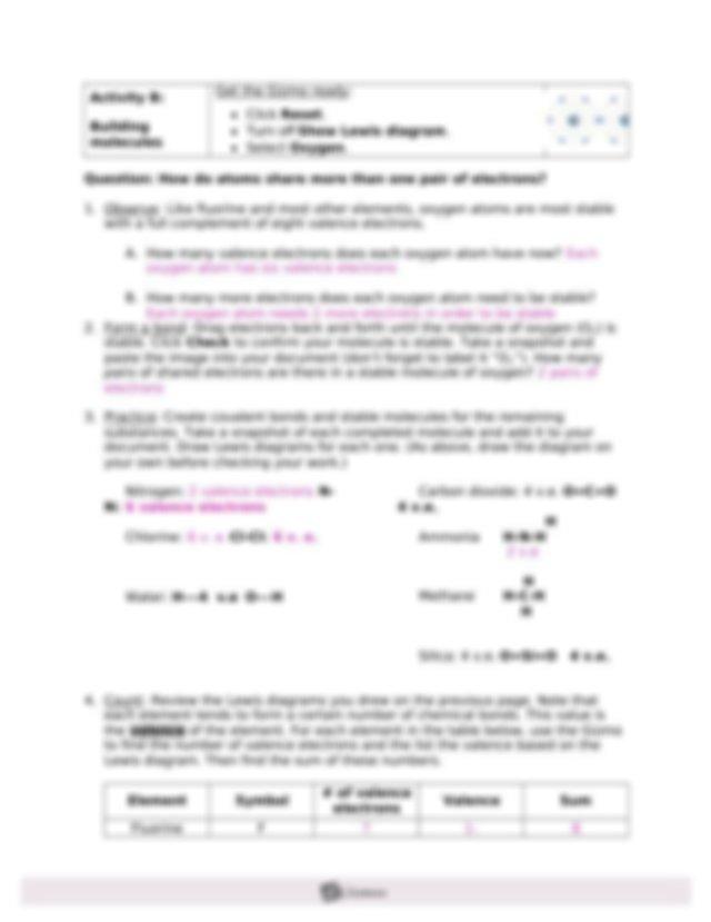 M4L3A Covalent Bonds Gizmo.doc - Name Andrea Gwin Date ...