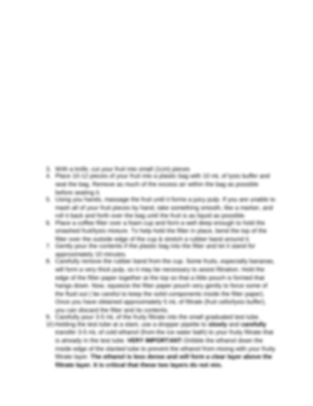 Lab Report - Aliya Ouellette Destiny Howes Strawberry DNA ...