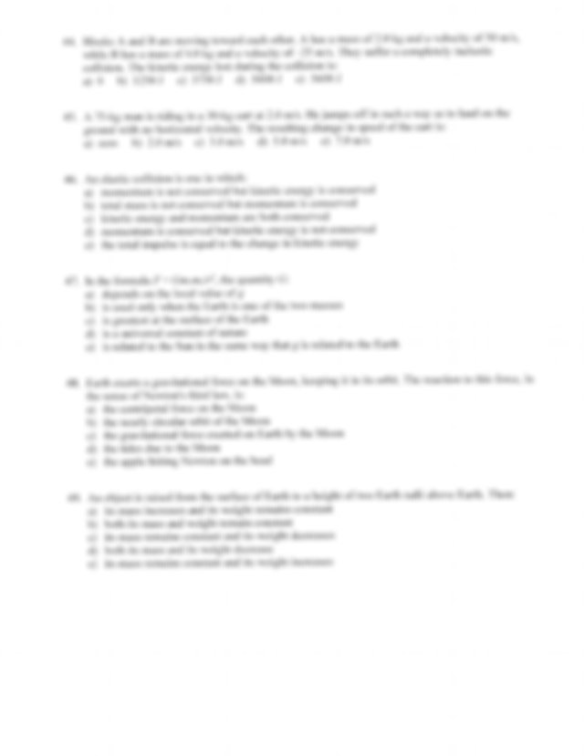 Practice Final Exam with Answer Key - Physics SENIOR FINAL ...