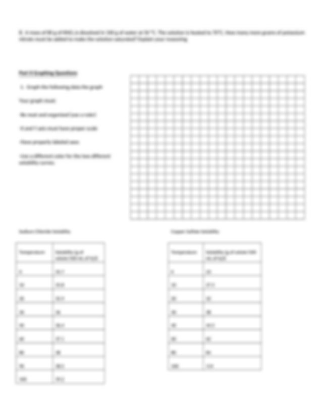 solubility curves worksheet - Solubility Curve Practice ...