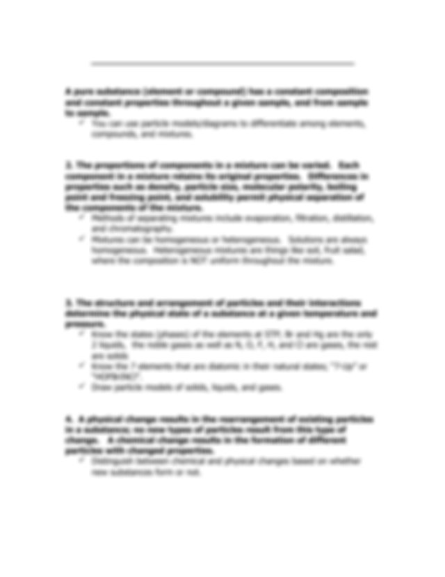 chemistry notes - Regents Chemistry Topic Review Packet ...
