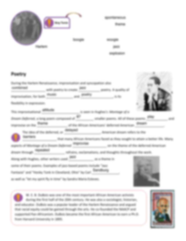 Guided Notes - The Harlem Renaissance.pdf - The Harlem ...