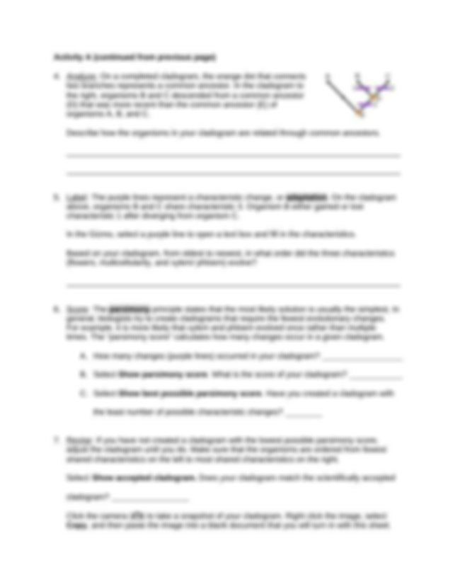 CladogramsSE (1).docx - Name Date Student Exploration ...