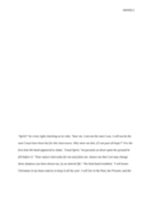 The Christmas Carol Literary Analysis Week 6 English 2015.docx - THE CHRISTMAS CAROL LITERARY ...