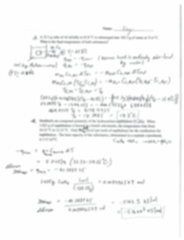 6 Thermochemistry worksheet key - Chemistry 1A Summer 2016 ...