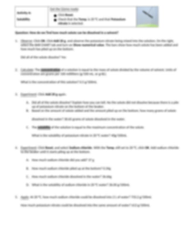 Copy of Gizmo - Solubility and Temperature (optional ...
