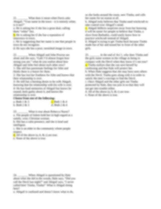Aracely Guerreiro - Crucible Quiz Act I Study Guide.docx ...