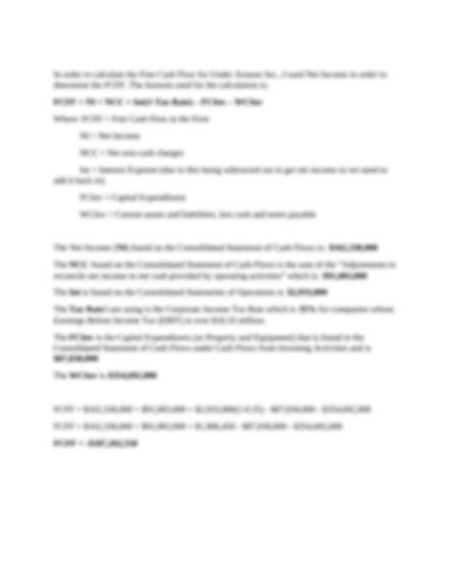 Week 4 Practice Assignment.docx - In order to calculate ...