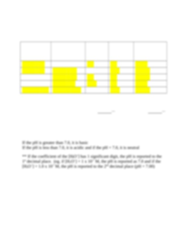 Chem 107 pH and pOH Worksheet I (Answers) - Chem 107(pH ...