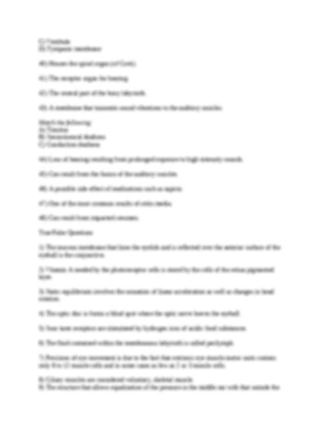 ch_15_worksheets - Chapter 15 The Special Senses 15.1 ...