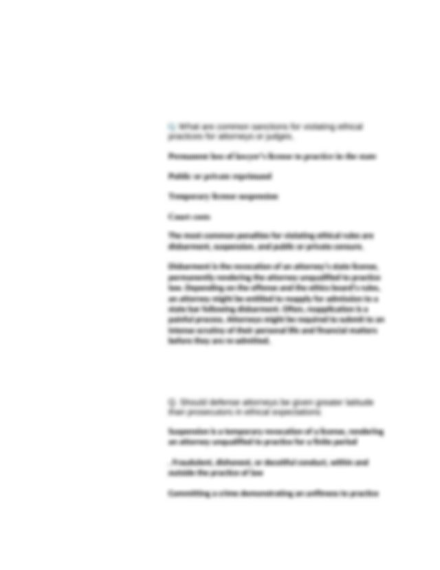 Essay on criminal procedures