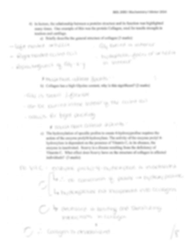 Test 2 answers - l BIOL 2080 E Biochemistry | Winter 2014 ...