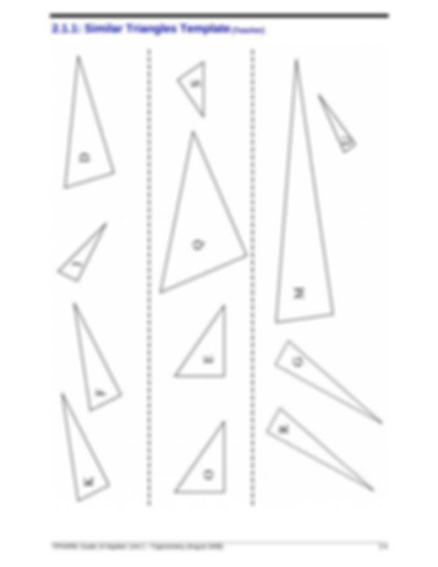 MFM2P Unit 2 Trigonometry - Chapter 3 Right Triangle ...