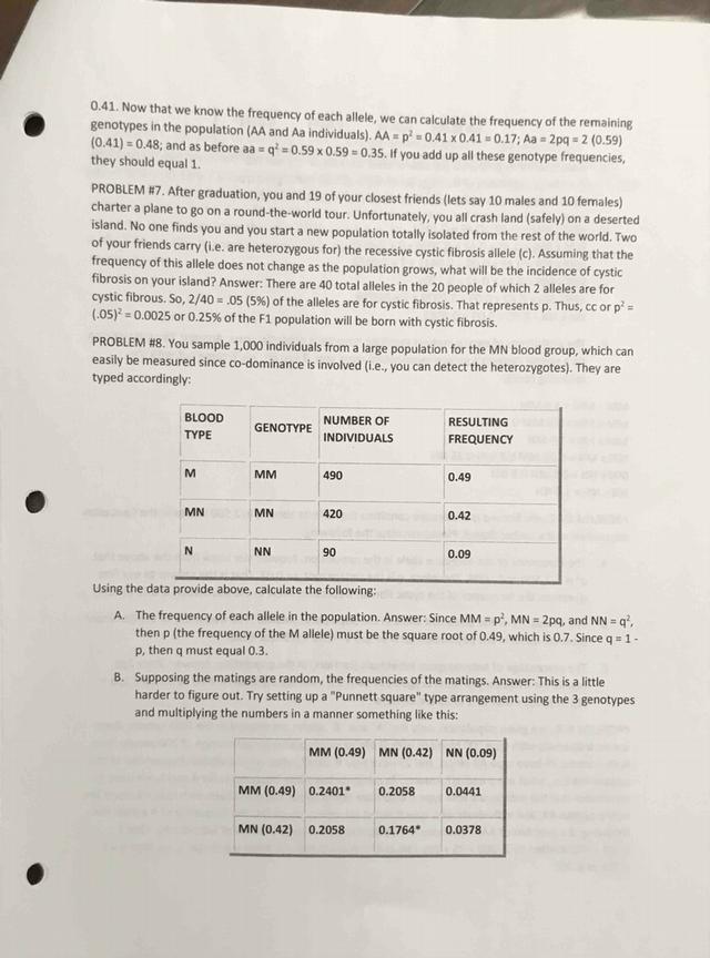 Population Genetics & Hardy-Weinberg Law Answers.pdf ...