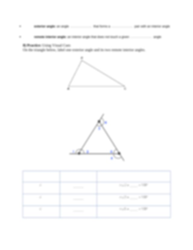 9 Practice Using Visual Cues Use the triangle below to ...