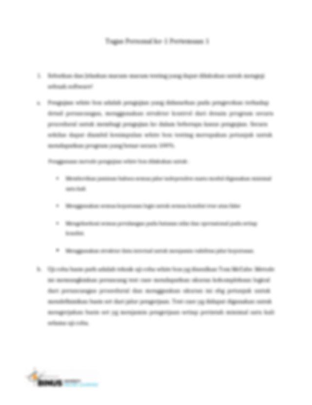 c Pengujian struktur kontrol adalah desain test case yang ...